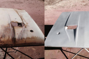 Rusted Hood Before and After