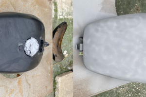 gas tank before and after