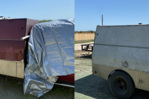 Trailer before and after